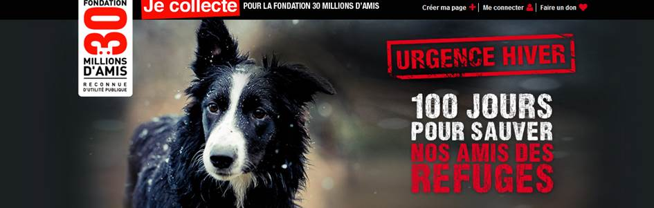 Urgence Hiver 30 millions d'amis crowdfunding
